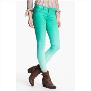 Free People Dip Dye Cropped skinny jeans